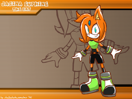 CM: Jasina Euphie the cat Sonic Battle Wallpaper by shadowhatesomochao