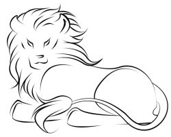 Lion Tattoo Design by Kiriska