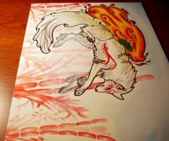 ::okami drawing auction:: by Ashenee