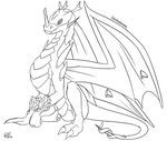 Beyond the crystals   Digimon G2 lineart by G3Drakoheart-Arts