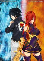 Gray and Erza Fairy Tail 379 by Maxibostero