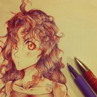 Wavy Hairs Girl by Asten-94