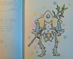 Sketch Daily | July 7, 2015 | Tanabata Jirachi by elise-fleuret