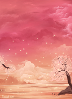Fireflies in Cotton Candy Skies by DeemahDesign