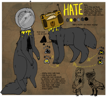 [HATE reffsheet] by Selk0uni