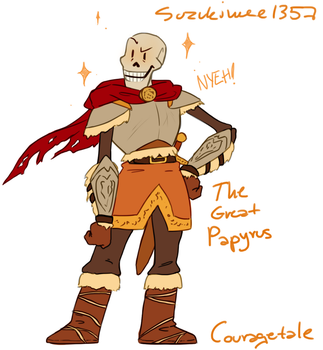 CourageTale: The Brave Papyrus by Suzukiwee1357