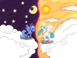 Luna and Celestia united by G-Y5