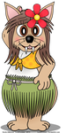 Savanna the Lion in a Grass Skirt by LordDominic