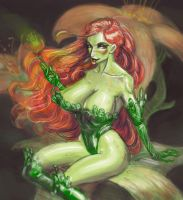 Poison Ivy Color Sketch by beonarri