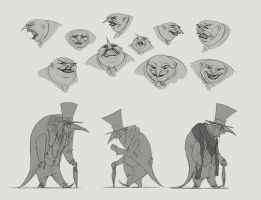 Penguin Sketches 1 by Grazeart