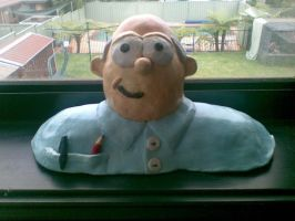 Bob the sunburnt clay man by GishyAngelBear
