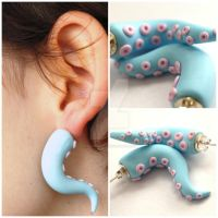 Tentacle earrings by amysshizzle