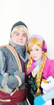 Kristoff and Anna by tangledinthread