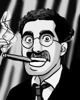 Groucho Marx by ChazieBaka