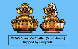 MLBiS Bowser's Castle Front Angle by KingAsylus91