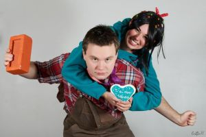 Vanellope and Ralph by Biseuse