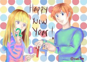 [Doodle] Happy New Year 2014! by sitidini