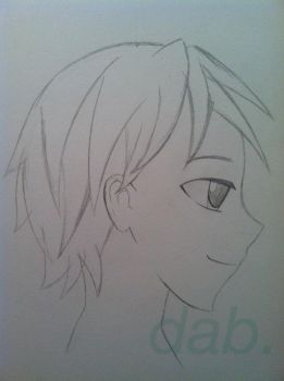 Profile View: Male Anime Face by AWildDaniAppeared