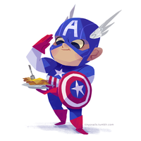 captain america by tinysnail
