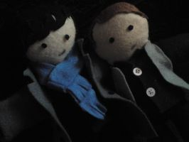 SHERLOCK AND JOHN PLUSHIES by BulletproofDeduction