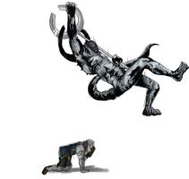 Elbow dropping Titanite demon by SimZz