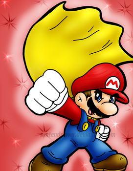 cape mario by Nintendrawer