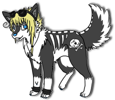 Bones the Wolf by WhatTheFoxBecca