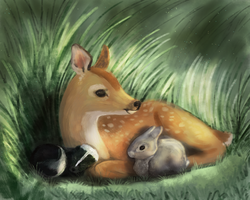 Bambi and friends by Noctualis