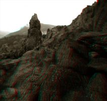 Pointy Bit - Anaglyph by Temphis