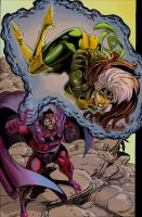 Magneto and Rogue by lsherriff2004
