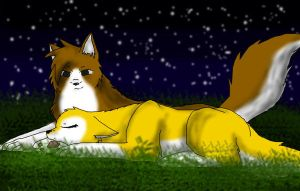 Haru and Kyo by moonlight by Forest-shrine-wolf