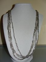 Necklace: Silver Beads by allykat