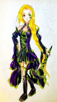 Gothic Mage (looks like a Witch, though) by SuschnuhSuzu