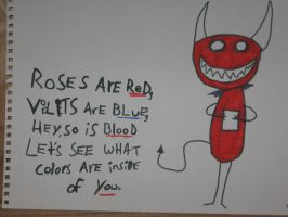 Roses are red violets are blue by vampirechick941