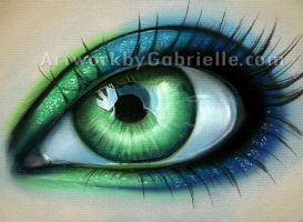 Green and Blue Eye by gabbyd70