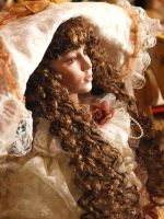 victorian doll with long hair by fotophi
