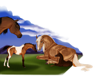first foals of Epona Stables by FreedomOnCanvas