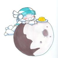 Atron on the moon with PUDDING by atron