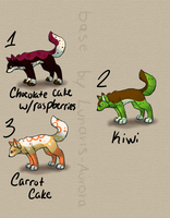 Food Inspired Canine Adopts -Open- by Furry-Adopts576