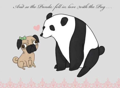 panda pug love by UpmostHilarity