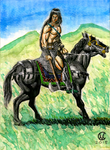 Conan on horseback - Color by mentat0209