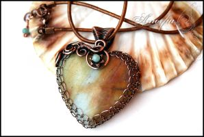 Amazonite heart by amorfia