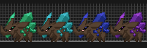 Starbound - Crystalback Sprites by Dragonith