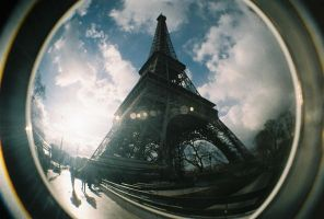 FISHEYE - Eiffle Tower by Sk8ergirl098