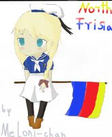 North Frisia with flag by Meloni-chan