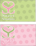 Sweet Sensations Logo and Card by waterdancer