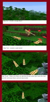 Minecraft Step by step to tame an ocelot by Pugwis