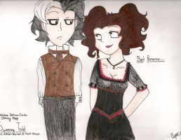 Sweeney Todd and Mrs. Lovett by PandoraLuv