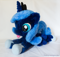 filly Luna inspired laying plush by mmmgaleryjka