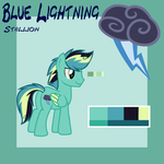 Blue Lightning by SecretMonsters